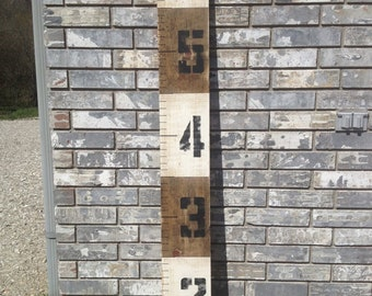 Striped Growth Chart, Wood Growth Chart, Height Chart, Wooden Height Chart, Wooden Growth chart, wood height chart, height measurement