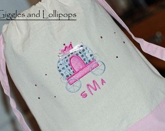 Girls Custom personalized Disney princess canvas backpack tote cinch sak Mickey minnie