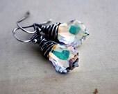 Crystal Earrings, Swarovski Crystal, Crystal Jewelry, Dangle Earrings, Drop Earrings, Sterling Silver, Swarovski Jewelry, PoleStar