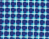Clothworks Urban Landscapes Check in Dark Blue - Half Yard