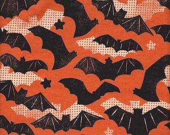 Blend Fabrics Spooktacular Gone Batty in Orange - Half Yard