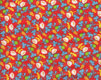 Windham Fabrics Briar Rose Calico in Orange- Half Yard