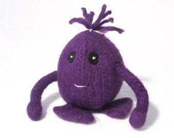 Little Egz Monster Felt Egg Toy mascot purple