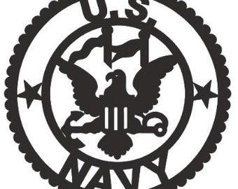Navy Emblem Applique