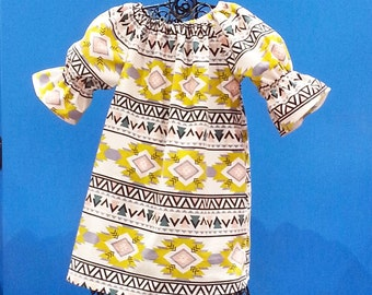 Girls Aztec Dress, Girls Fall Dress, Corduroy Dress, Toddler Girl Dress, Three Quarter Sleeve Dress,  Groovy Gurlz