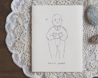 That's perfect | Love greeting card made of recycled cotton paper and tissue paper pages