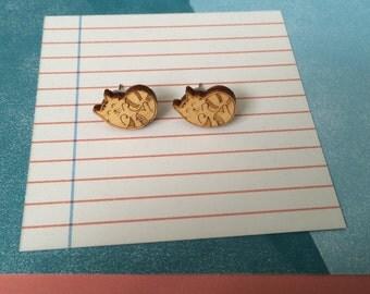 Curly Cat Earrings