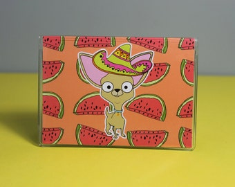 Chihuahua Card Wallet, Bus Pass/Travel Card/Credit Card Holder Vinyl
