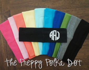 Monogram Personalized Stretchy Cotton Headband