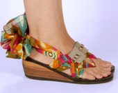Vegan Taupe Leather Small Strap Accessory for Mohop Interchangeable Ribbon Sandals