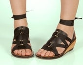 Vegan Leather Black Triangle Accessory for Mohop Interchangeable Ribbon Sandals