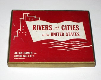 Vinage (1954) Card Game - Rivers and Cities of the United States