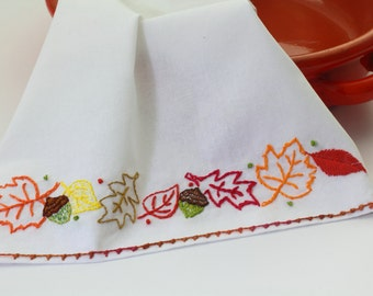 Autumn Embroidery Pattern Maple leaf fall embroidery