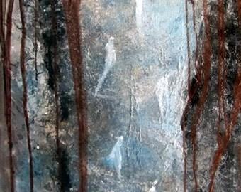 Original abstract acrylic art painting on canvas wall art Private Domain leearte Carol Lee Art Studio