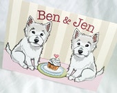Westies in Love Greeting Card - Customized with Your Names