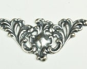 Filigree corner , Brass and plated 3 ways, sold in packs of 6 each, 14003