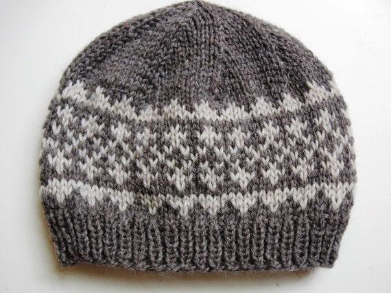 PDF knitting pattern for hat Simple Fair Isle Pattern Hat 1