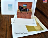 Horse in Stall Stable Pop-Up Card  -ITEM 1328