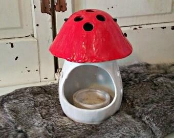 Vintage Mushroom Candle Holder