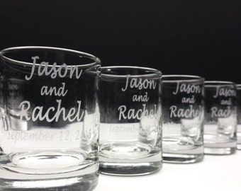 108 Engraved Glass Favors Personalized Wedding Decor Wedding Candle Holders
