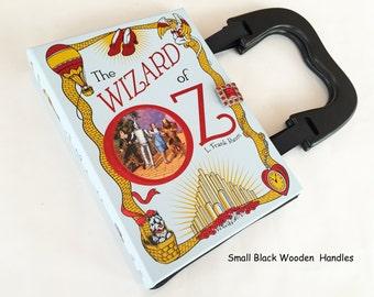 Wizard of Oz Repurposed Book Purse - Wizard of Oz Collector Gift - Emerald City of OZ Book Clutch - YA Book Purse