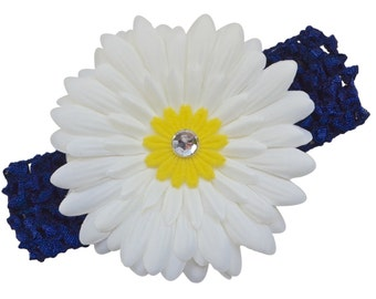 Gerber Daisy Crochet Baby Headband