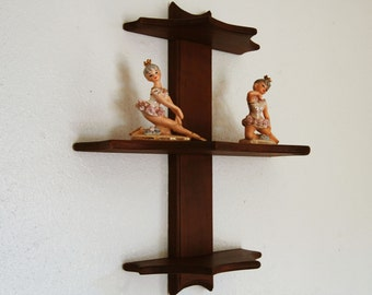 Vintage Wooden Display Shelf