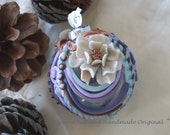 Polymer Clay Christmas Decoration, Christmas Ornament, OOAK Ornament, Detailed Polymer Clay Ornament