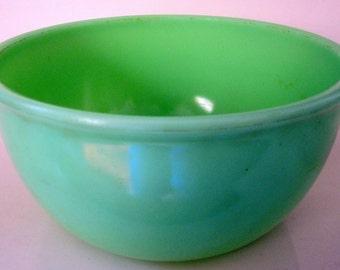 Vintage Batter Mixing Bowl Green Jadite Jadeite Kitchen Accessory 1930s