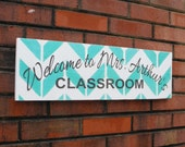 Personalized Teacher Sign, custom teacher gift, Welcome sign, Classroom sign