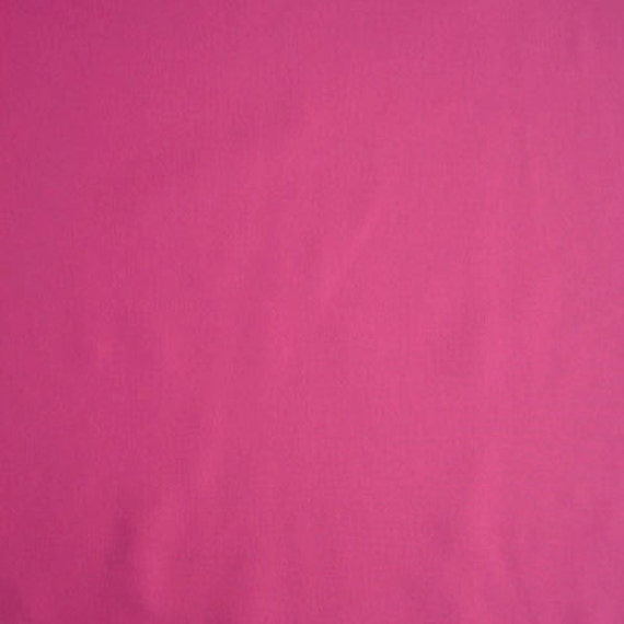 Bright Pink Plain Fabric, Fuschia Pure Cotton Fabric for Patchwork and Crafts