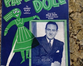 Vintage Paper Doll Guy Lombardo sheet music
