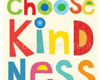 Choose Kindness- Kids Wall Art