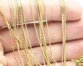 20 M. Raw Brass Snake Chain (0.65 Mm) Bs 1014