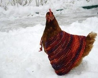 Pattern Crochet Chicken Poncho
