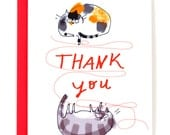 Thank You Card - Cat String - Cat Mom or Cat Dad Card - Thanks