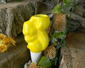 Squirrel   Water Tender ....Water Globe System  Plant care for vacations yellow  Pottery Windowsill box docor