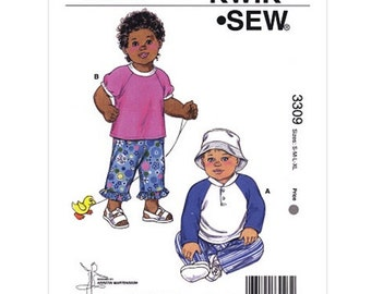 BABY CLOTHES PATTERN / Make Pants - Tops - Hat / Summer Clothes / Boy - Girl / Small to Extra Large
