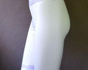 Merino wool knee long panties, wool leggings  - organic wool underwear, pick your color, length and trim