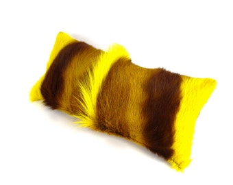Yellow Fur Pillow