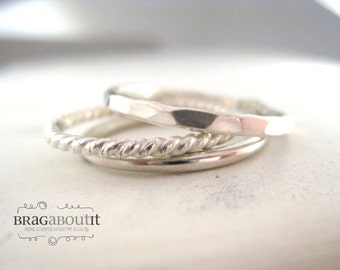 Stackable Ring . Stacking Ring . Teeny Tiny Stacking Ring . Brag About It . Teeny Tiny Stacking  Brag Band
