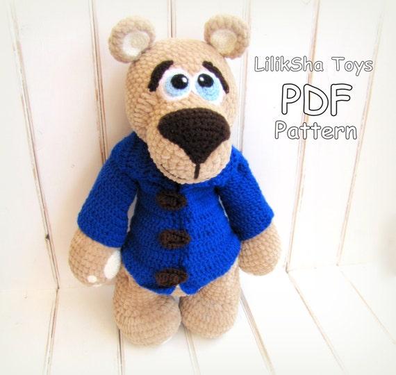 Amigurumi Big Bear : Crochet toy Amigurumi Pattern -Big Velvet Bear. from ...