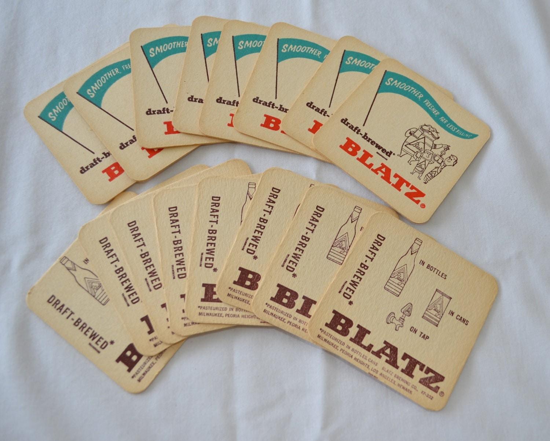 Vintage blatz beer cardboard coasters lot of by ilovevintagestuff - Cardboard beer coasters ...