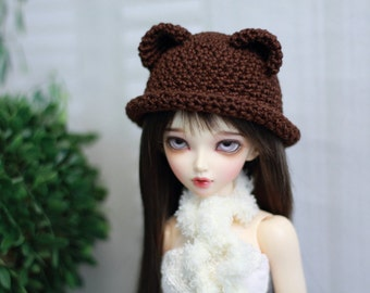 BJD Bear Hat, Minifee Size Bowler, Choose Your Color