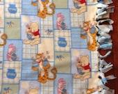 Baby Blanket - Winnie the Pooh, Fleece Baby Blanket, Fringed Baby Blanket, Vintage Winnie the Pooh Blanket, Baby Gift