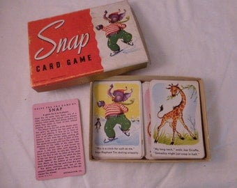 Vintage Snap Card Game in Original Box Incomplete