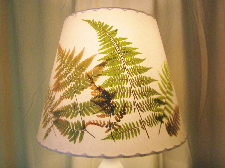 woodland fern lampshade pressed flower lamp shade botanical. Black Bedroom Furniture Sets. Home Design Ideas