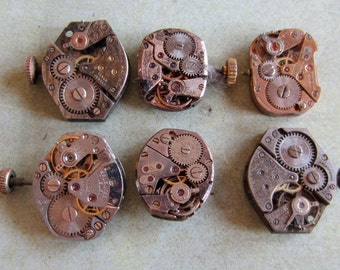 Featured - Steampunk supplies - Watch movements - Vintage Antique Watch movements Steampunk - Scrapbook u47