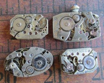 Featured - Steampunk supplies - Watch movements - Vintage Antique Watch movements Steampunk - Scrapbook e8