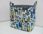 XL Basket EXTRA LARGE Fabric Basket - Storage Container - Toy Bin - Nursey Room - Home Decor - Gift Basket - Kids Room - Animals 2D Zoo Pool